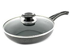 Сковородка Non-Stick 24 см. склян. кришка мрамурна Zauberg PN-24H (12) ІНТР