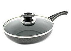 Сковородка Non-Stick 26 см. склян. кришка Антипригар. чорна Zauberg PN-26B (12) ...