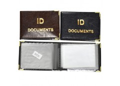Обкл на документи ID зі вкладишем, шкірзам Tascom  129-Па