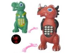 Тел. мобіл 13см. динозавр, звук, світ на бат. на лист. 14*7*4см  JS 5619-41  (24...