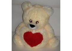 Ведмедик травка з сердечком з бантом  вел