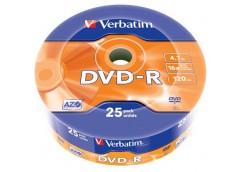 VERBATIM DVD-R 4,7 Gb 16x Wrap 25шт. 43808