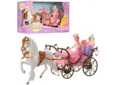 Карета в кор лялька лошадка світинься немузикальна 52см  207 A (6)