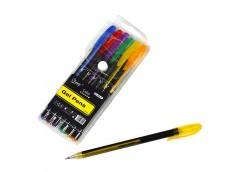 Набір ручок 6 кол гель неон-металік CQ-905-6