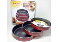 Набір форм для торта круглі антипригар сталь 3 шт. (24.26.30 см.) 2095 А-плюс (1...