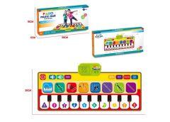 Коврик муз, танцювальний піаніно на бат. в кор.38*18*5см 757-01A (2/72)
