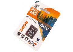 Карта пам'яті Mibrand microSDHC 8GB class 10, adapter SD  MICDHC10/8GB-A
