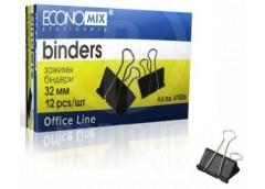 Біндери ECONOMIX 32мм за 12шт.E41006 (12) &&