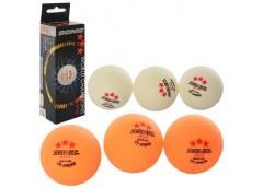 Тенісні шар 40мм+, 3шт в кор. без шву, 2 кол.  MS 3128-2 (240)