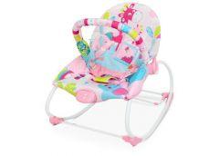 Шезлонг-качалка дитячий, муз. вібро, 2 пол. спинки, дуга, підвіс. рожевий 6921 (...