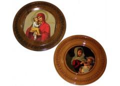 Картина деревяна кругла ікона 21см