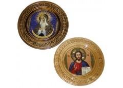 Картина деревяна кругла ікона 23см