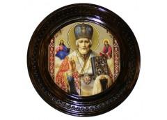 Картина деревяна кругла ікона 30см