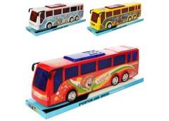 Автобус інерц. в слюді  35см. 3 вида, (TF,FR)   37*12*11см.  828-38-58B (48)