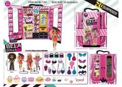 Лялька Bella Dolls в кор. шафа для одягу, одяг, прикр. аксес. 25*8*31см. BL1157 ...