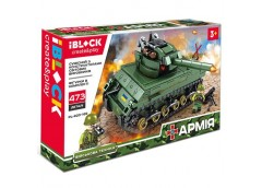 Констp IBLOCK, танк, 473дет. 35*6*21см.  PL-920-169  (24)