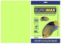 Папір офс А-4 50а/ 80г Neon зелений 2721550-04 BM BUROMAX