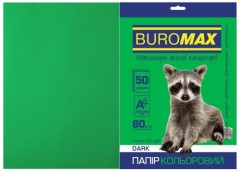 Папір офс А-4 50а/ 80г Dark зелений 2721450-04 BM BUROMAX