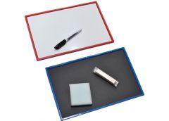 Доска магнітна-крейдова 207*308мм + маркер губка крейда двох. стор. Козлов (1)