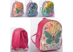 Рюкзак дитячий, 1 від. застіб. блискавка, паєтки, 4 кол. в кул. 26*23*10см.  MK ...