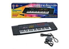 Піаніно в кор. 44 клавіші, мікрофон, 8 ритмів, запис,  79*25*9см SK 3738 (10)