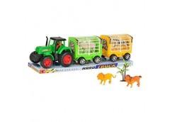 Трактор в слюді +прицеп з тваринами 43*10см 906-104 (48)
