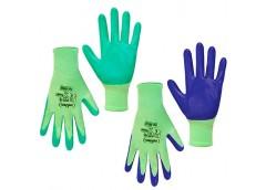 Рукавиці жіночі з нітриловим покритям зелені SEVEN 69040/69050  (12)
