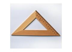 Трикутник дерев'яний 16см 45*45 0156 Козлов (50)