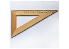 Трикутник дерев'яний 16см 30*60 0155 Козлов (50)