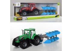 Трактор з причіпом в кор, інерц, 42см, 46*15*11см 0488-308 (36)