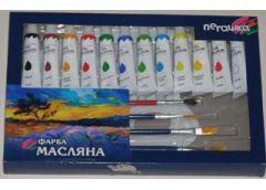 Набір фарб масляних 12к 12мл 4кісточки, палітра  OL 12-12 F (12) FRM