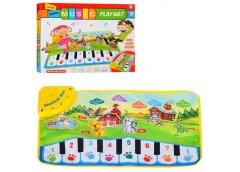 Коврик муз ,пианино,зв.животн,свет,на бат-ке, в кор-ке, 60-37см33-26,5-4,5см LT3...