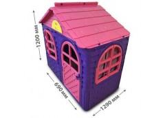 Будинок з шторками пласт. 129*69*120см фіолетово-рожевий в кор. 128*27*86см. 02550/10 (1) DT