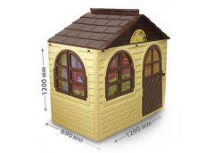 Будинок з шторками пласт. 129*69*120см коричньово-бежевий в кор. 128*27*86см. 02550/12 (1) DT