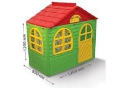 Будинок з шторками пласт. 129*69*120см червоно-зелений в кор. 128*27*86см. 02550/13 (1) DT