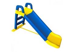Гірка для катання дітей пласт. 140*40*80см жовто-синя в кор. 80*25*43см 0140/03 (1) DT