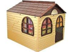 Будинок з шторками пласт. 129*129*120см коричньово-бежевий в кор. 128*33*86см. 02550/2 (1) DT