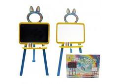 Дошка для малювання 2-стороння, магнітна  в кор. 35*48*7см. жовто-голуба  013777/1 (1) DT