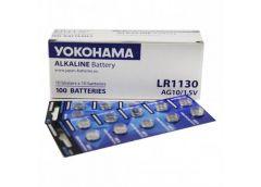 Бат. таб. Yokohama 1.5V AG10/LR1130 за 10шт (100)