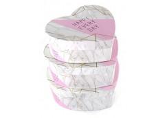 Коробка подарункова, 3в1,серце, 25*23*11см (маг вел.=65) 460686