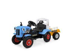 Трактор  р/у  2.4G з причіпом, 2 мот. 2*25W, 1*6V7AH, світ, синій M 4261ABLR-4 (1)