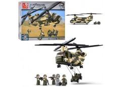 Констp Sluban Армія, вертоліт, машина, фігурки 257дет 33*24*6см  M38-B 0508 (8)