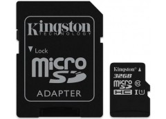 Карта пам'яті KINGSTON microSDHC 32GB Canvas Select  U1 (R80, W10) + adapter SDC...