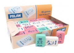 Ластик Milan прямокутня кольорова з тваринками 2,8*1,9*1 см. CNM4060  (60/1500)