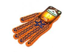 Рукавиці Doloni з зіркою оранжеві Х/Б з ПХВ малюнком 564 (5\200)