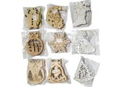 Іграшки новорічні деревяніі асорті  (5)
