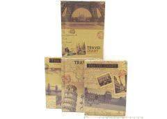 Блокнот JO, 11*15см. Travel diary, жовтий папір, кліт. мікс4 1284HC