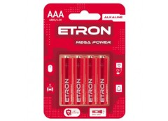 Бат. R3 бл. Etron Mega Power Alkaline (4/48/480)