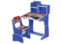 Парта ТЧ, регул висот зі стульчиком, 70*47см, синя  W 2071-70-4 (1)