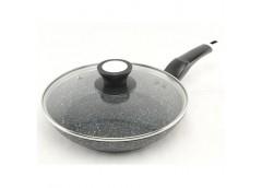 Сковородка А-плюс з кришкою, гранітне покриття 22см 1480 (10)